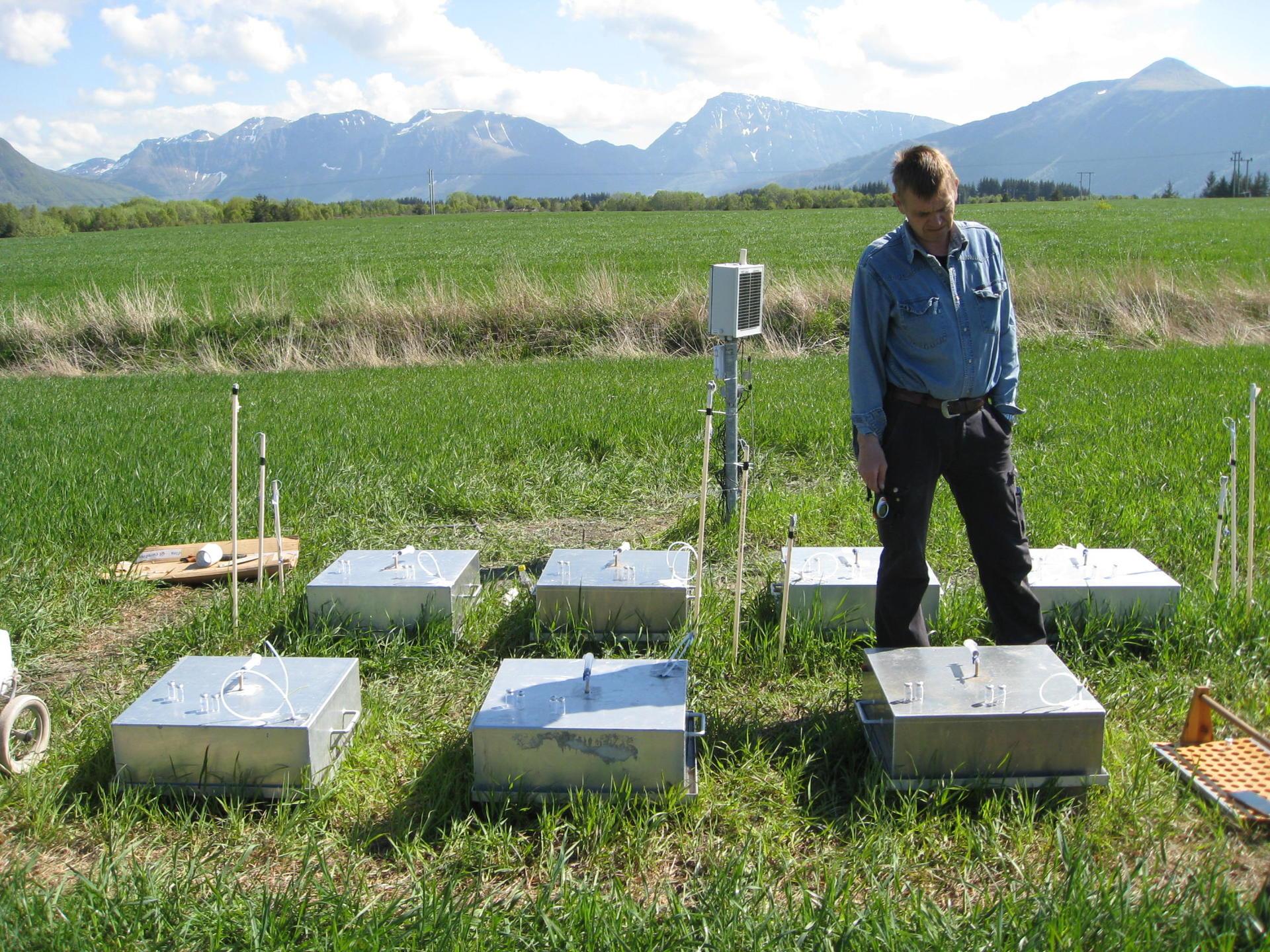 Måling av klimagassutslipp fra myr
