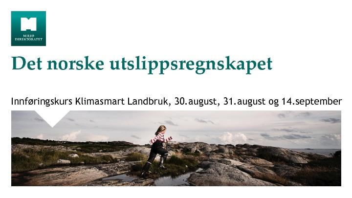 Det norske utslippsregnskapet, ved Miljødirektoratet