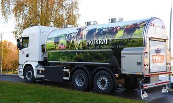 Melkebil som går på KUKRAFT