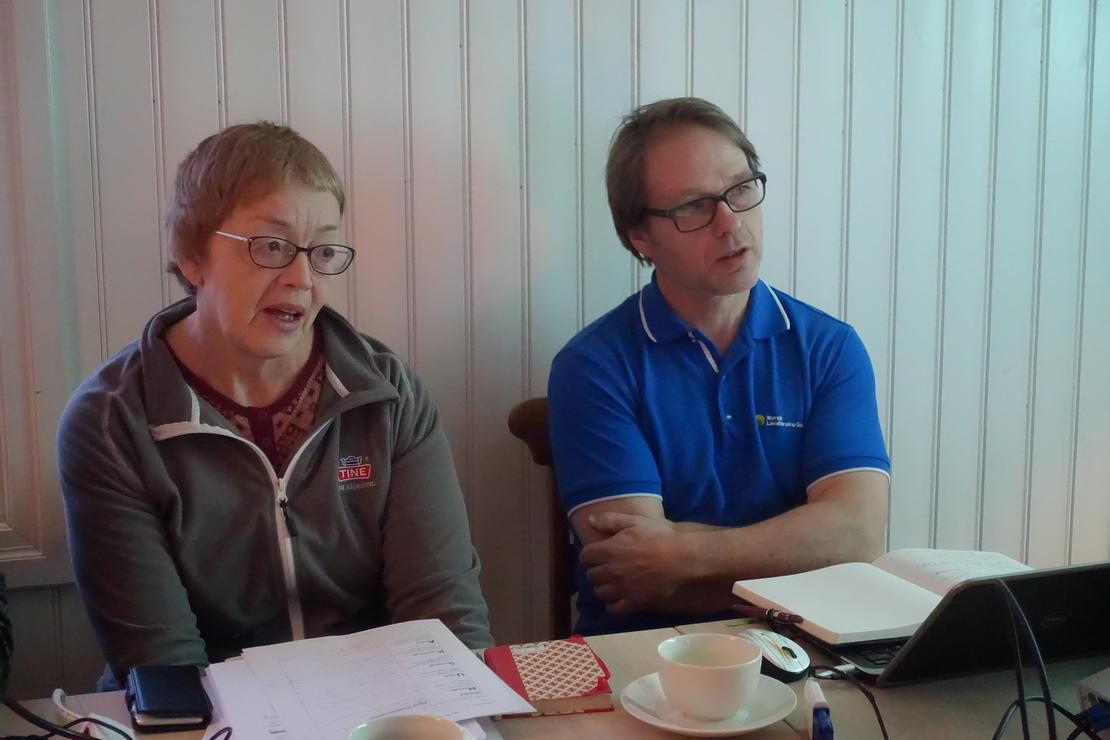 Klimarådgivere tester klimakalkulator på Kjesbu samdrift, våren 2018